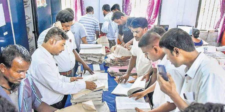 Applicants submit their appeals after the release of final NRC list at an election office in Tezpur, Assam on Tuesday.