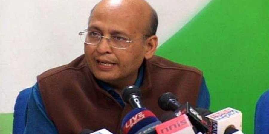 Congress leader Abhishek Manu Singhvi.