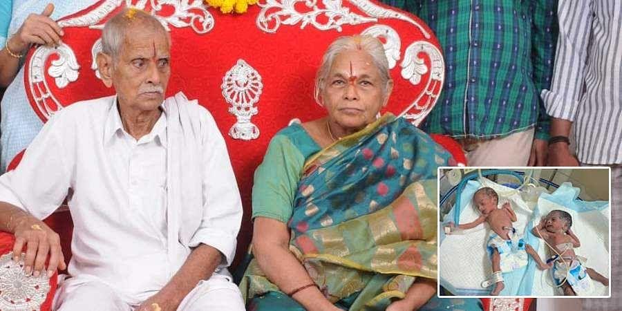 Mangayamma with her husband Y Raja Rao