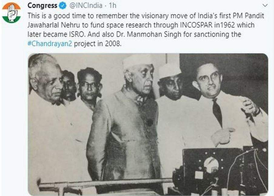 The then Prime Minister Manmohan Singh's Cabinet approved the Chandrayaan-2 lunar mission.