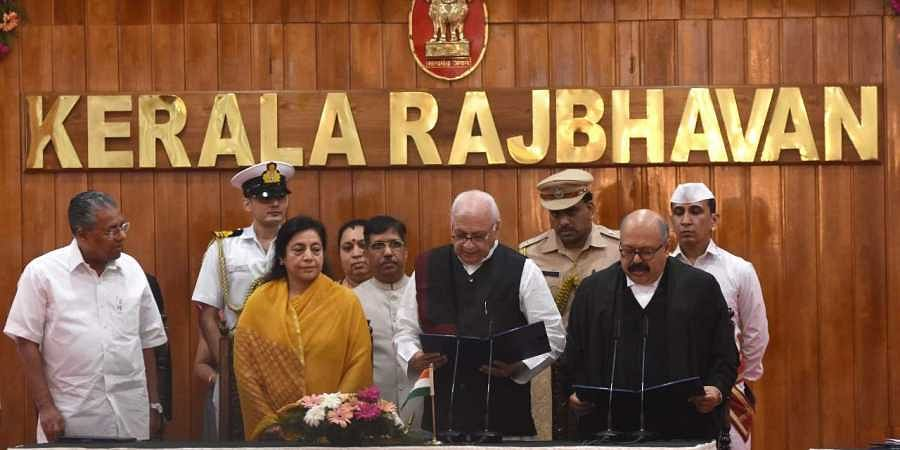 Arif Mohammad Khan sworn in as the 24th Governor of Kerala at the Raj Bhavan in Thiruvananthapuram