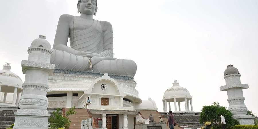 Dhyana Buddha statue at Amaravati in Guntur district