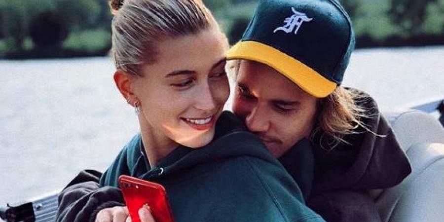 Justin Bieber with his wife Hailey Rhodes Bieber. (Photo | Instagram)