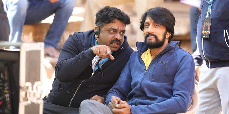 'Pailwaan' director S Krishna with actor Sudeep.