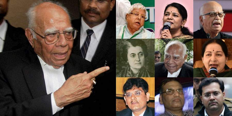 Superstar lawyer Ram Jethmalani had argued controversial cases and was one of India's highest-paid advocates. Check out some of the high profile cases Ram Jethmalani took charge of.