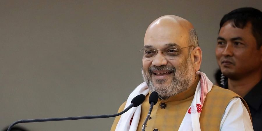 Union Home Minister Amit Shah addresses the 68th Plenary Session of North Eastern Council at Administrative Staff College in Guwahati Sunday September 8 2019. | PTI