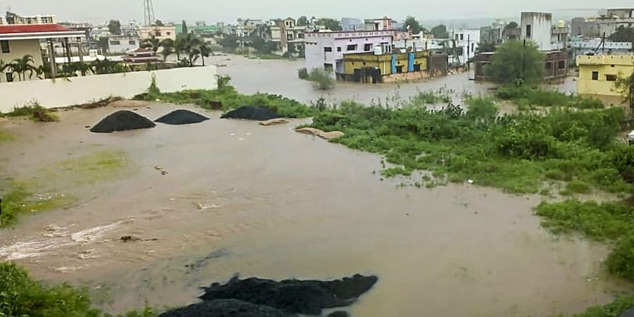 A view of a flood-hit area after heavy monsoon rains in Gadchiroli district of Maharashtra Saturday September 7 2019. | PTI