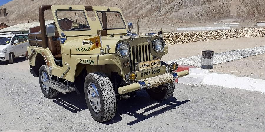A Pakistani jeep captured by the 3 Grenadier Regiment in the 1971 war in Leh Wednesday September 04 2019. | PTI