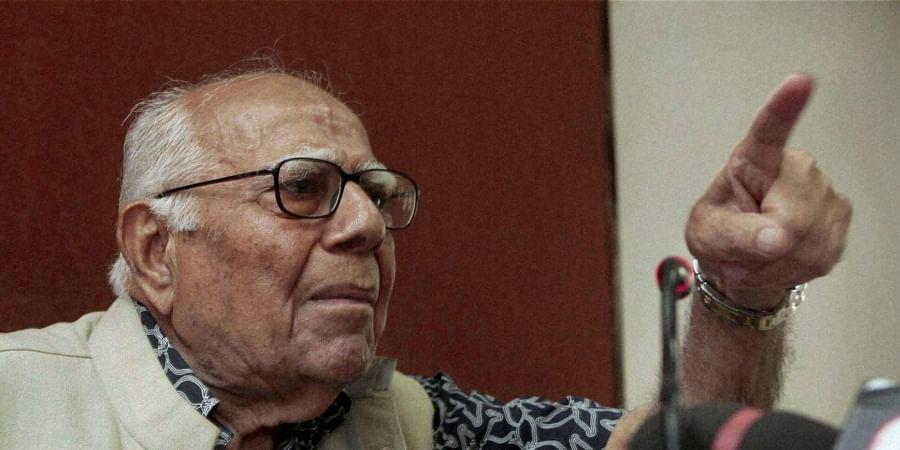 Veteran lawyer and former Union minister Ram Jethmalani