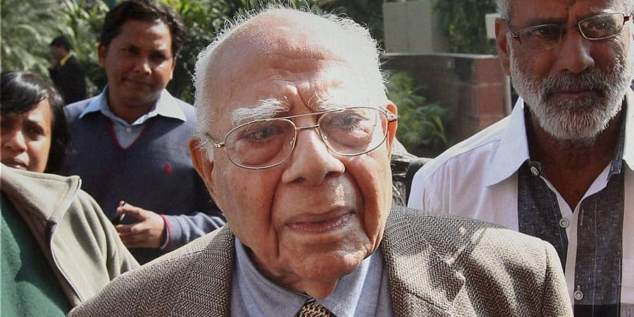 Veteran lawyer and former Union minister Ram Jethmalani