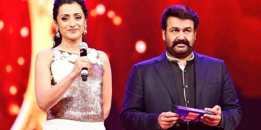 Actors Trisha and Mohanlal
