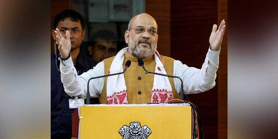 Union Home Minister Amit Shah addresses the 68th Plenary Session of North Eastern Council at Administrative Staff College in Guwahati Sunday Sept 8 2019