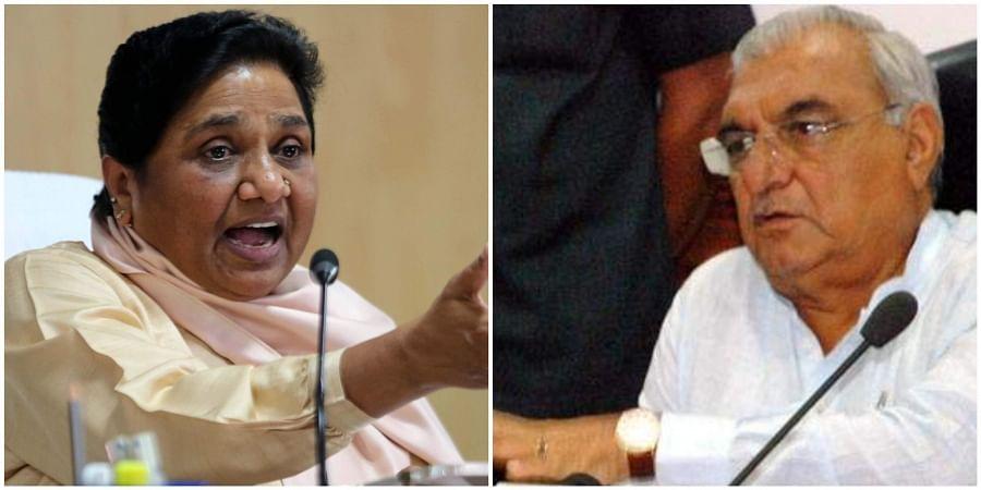 Mayawati and Bhupinder Singh Hooda