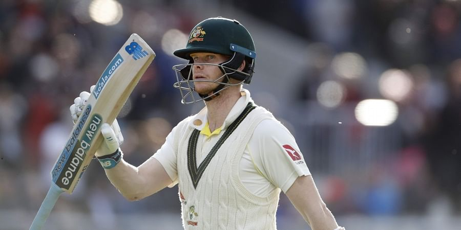 Australia's Steve Smith leaves the field after being dismissed during day four of the fourth Ashes Test cricket match between England and Australia at Old Trafford in Manchester, England, Saturday, Sept. 7, 2019. | AP