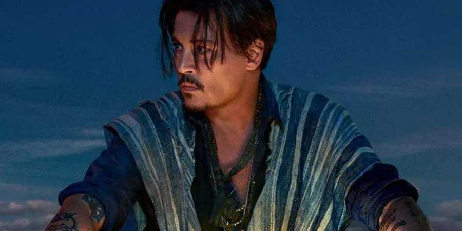 Actor Johnny Depp in Dior's Sauvage perfume ad.