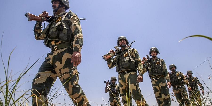 BSF patrol near the international border