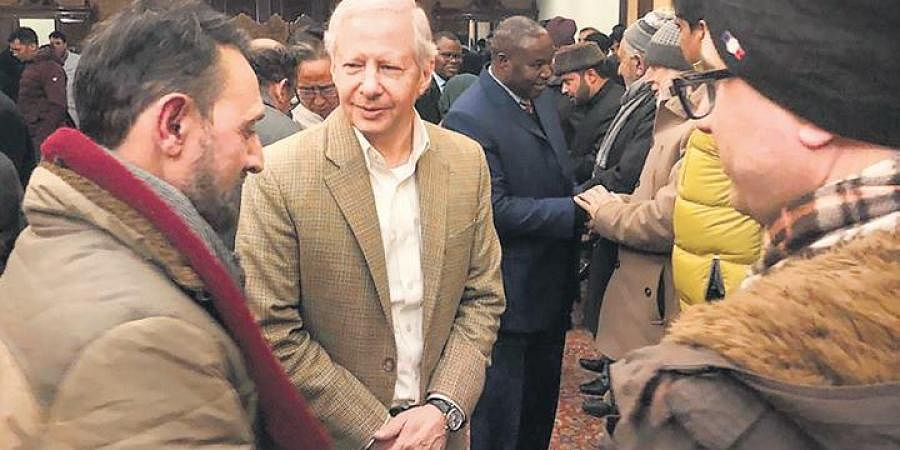 US envoy Kenneth Juster interacts with civil society members in the Valley.