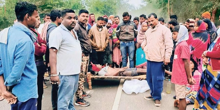 Villagers stage road blockade with Mantu's body at Musamari Chowk
