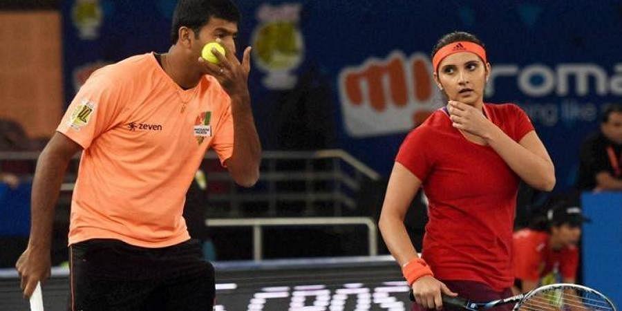 Indian tennis stars RohanBopanna and Sania Mirza