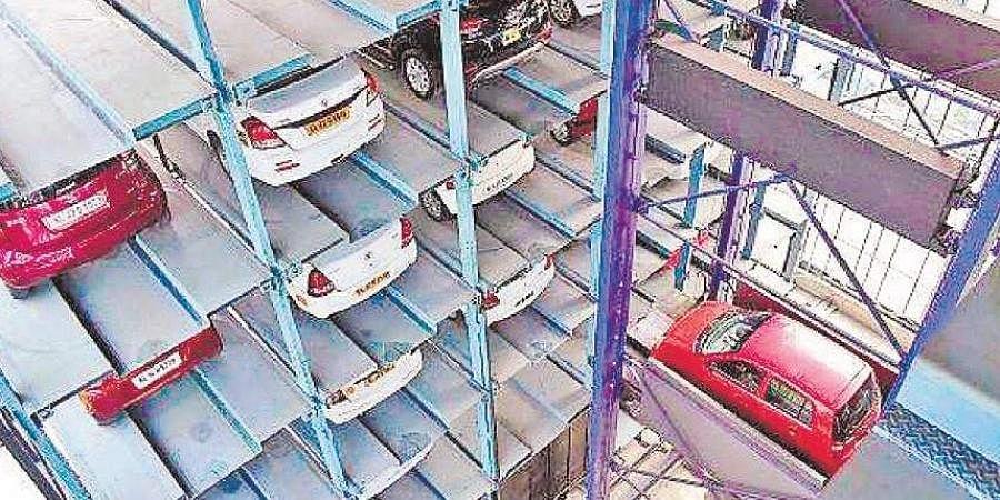 A multi-level car parking facility