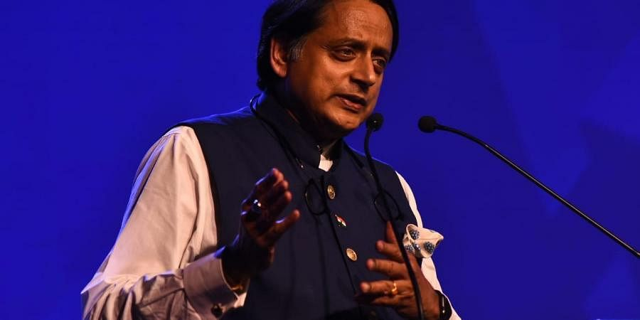 Congress MP Shashi Tharoor during the ThinkEdu conclave in Chennai on Wednesday.