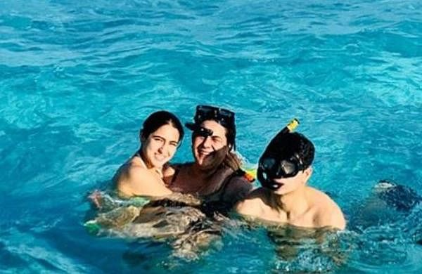 Sara was in a vaccation with her brother Ibrahim Ali Khan and mother Amrita Singh.