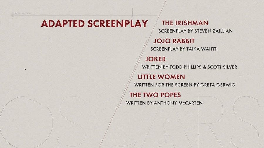 Here are the nominees for 'Adapted Screenplay' category