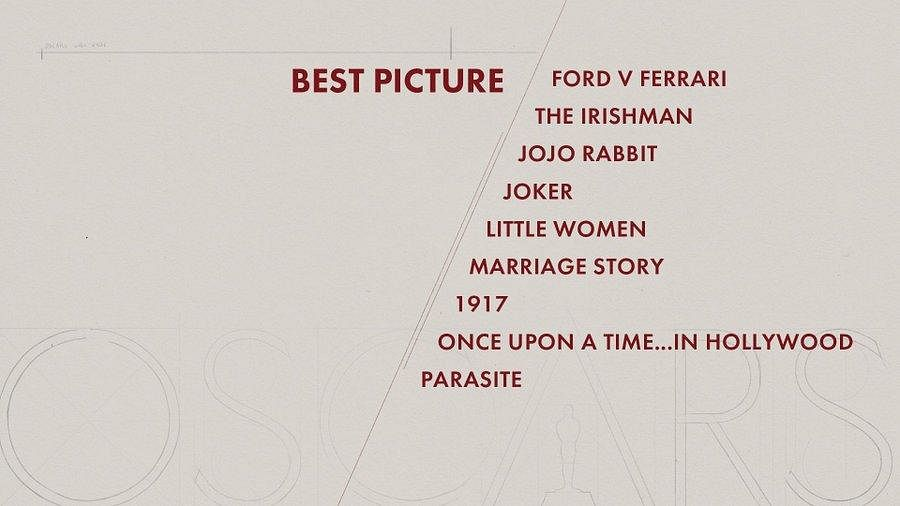Here are the nominees for 'Best Picture' category