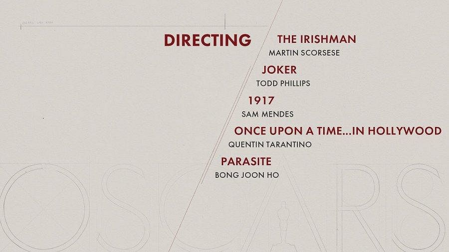 Here are the nominees for 'Directing' category