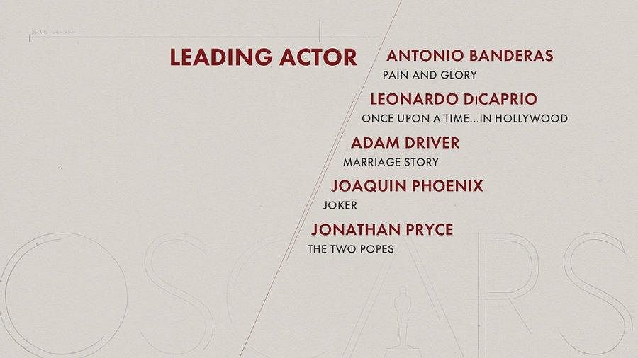 Here are the nominees for 'Best Actor' category'