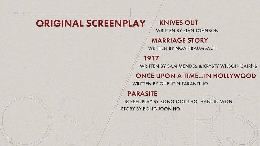 Here are the nominees for 'Original Screenplay' category