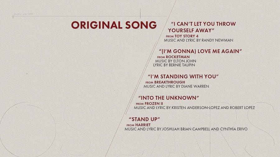 Here are the nominees for 'Original Sound' category
