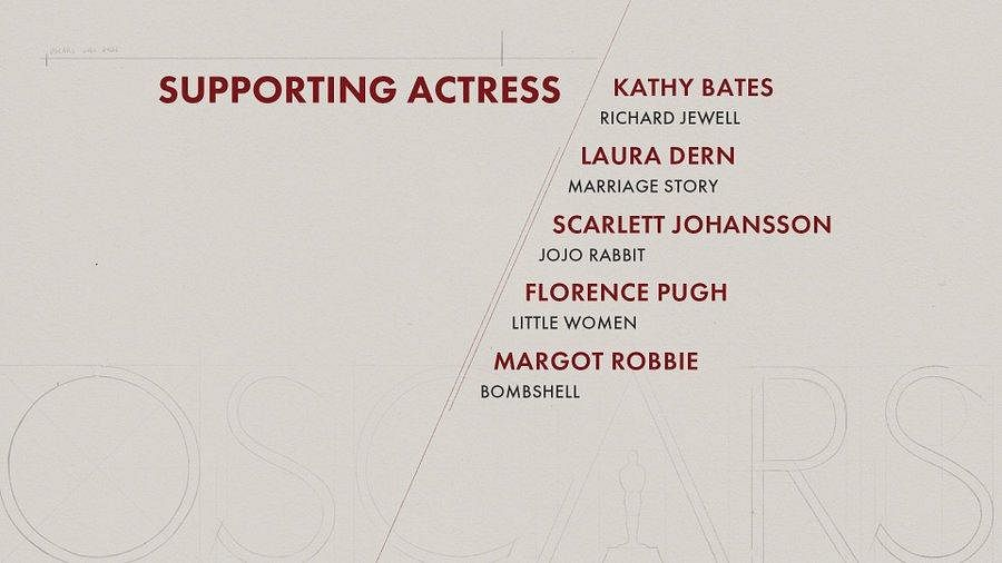 Here are the nominees for 'Supporting Actress' category