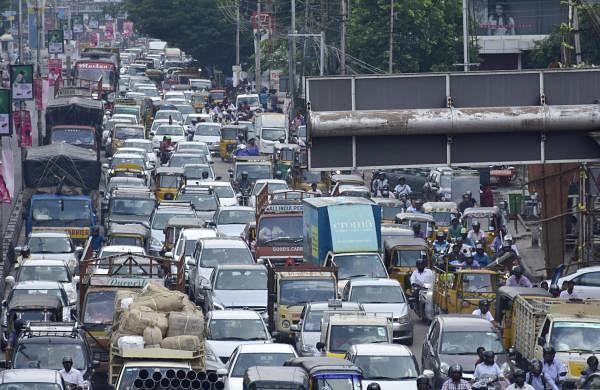 Private bus operatorsin Hyderabad break rules to cater to huge Sankranti rush