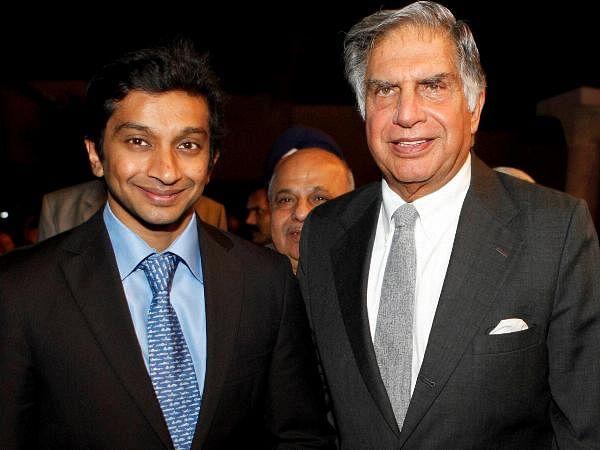 Tata Group Chairman Ratan Tata along with Formula 1 driver Narain Karthikeyan during the Bloomberg UTV Autocar Award in Mumbai.