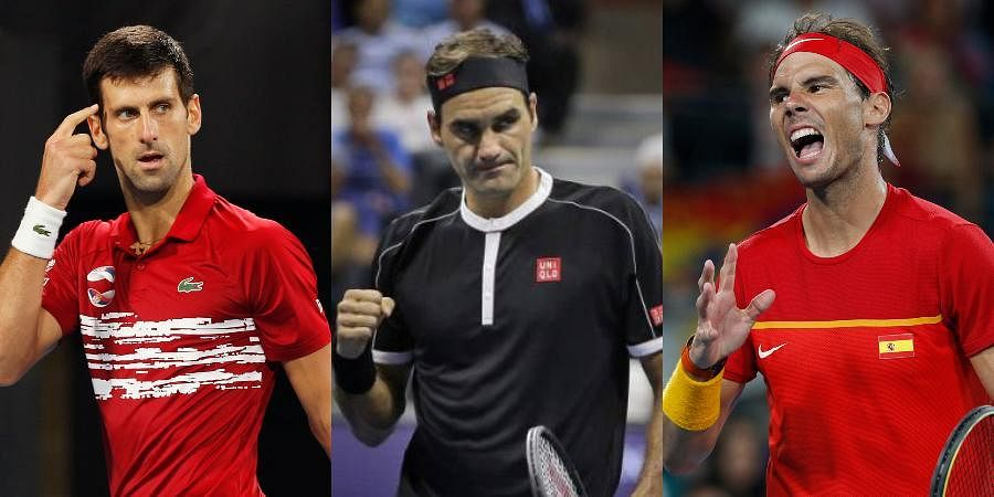 ATP stars (from L) Novak Djokovic, Roger Federer and Rafael Nadal