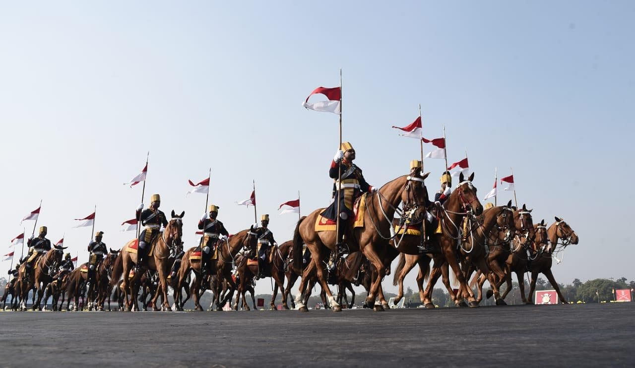 The Indian army has a horsed cavalry regiment, which is among one of the last 3 such regiments in the world.