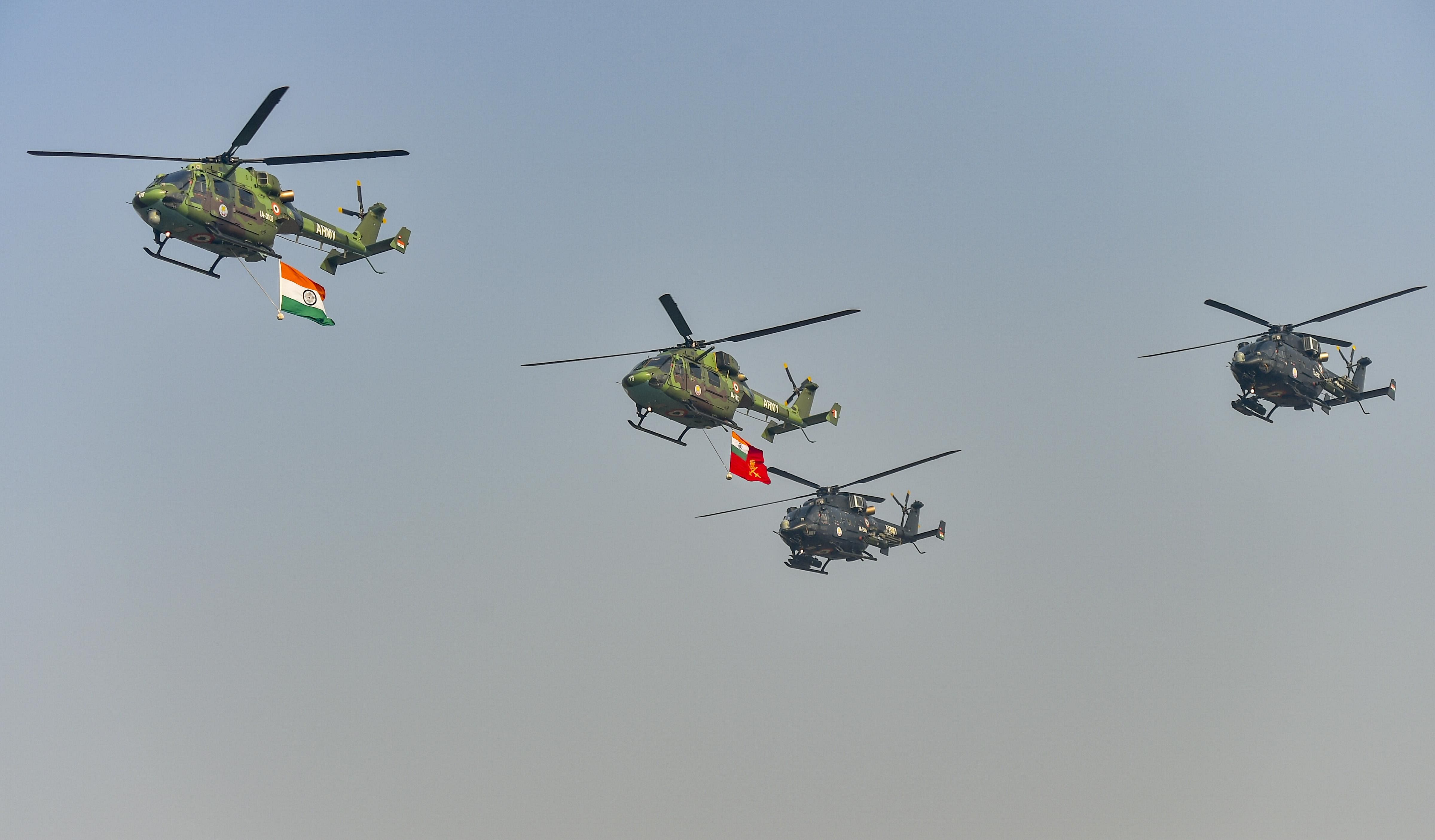 Indian Army helicopters