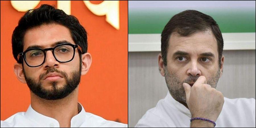 (Left) Aditya Thackeray (Right) Rahul Gandhi