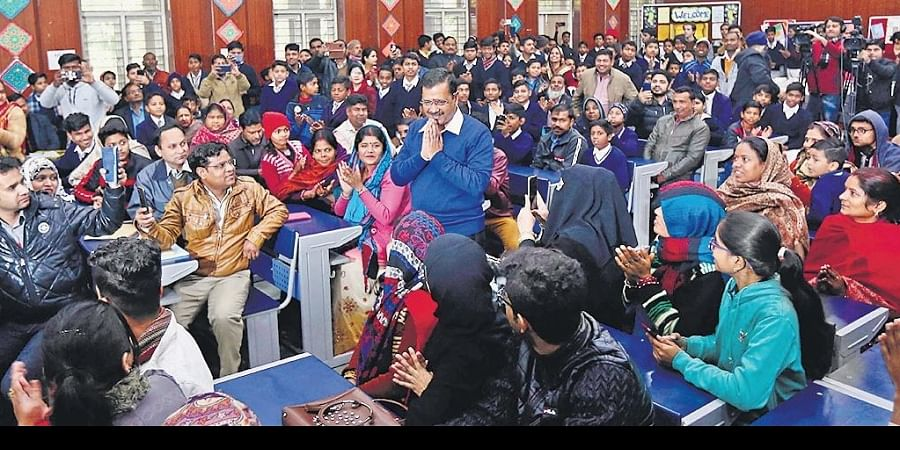 School education has been a trump card for Chief Minister Arvind Kejriwal and AAP leaders as they claim to have brought a turnaround in government schools
