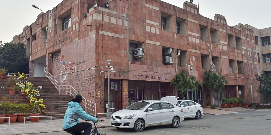 Admin block of JNU Campus in New Delhi. (Photo | PTI)
