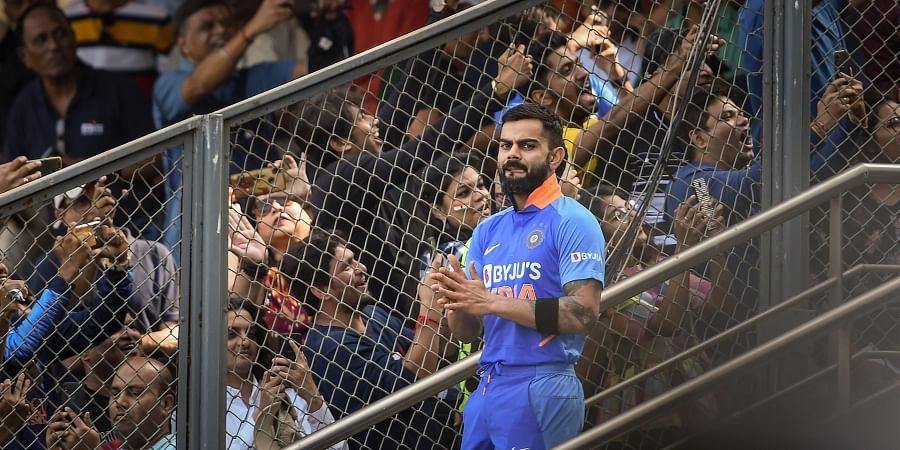 Indian captain Virat Kohli during the first one day international ODI cricket match between India and Australia at the Wankhede Stadium in Mumbai. (Photo | PTI)