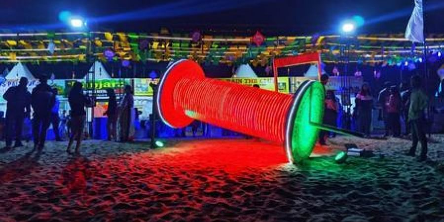 Kite flying festival at Marine Drive Eco Retreat in Konark on Tuesday