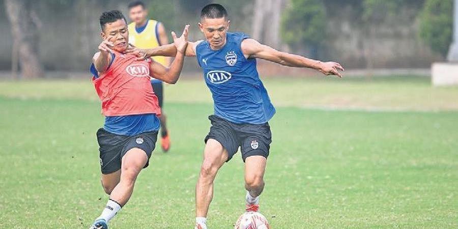 Skipper Sunil Chhetri has scored eight goals for Bengaluru this season