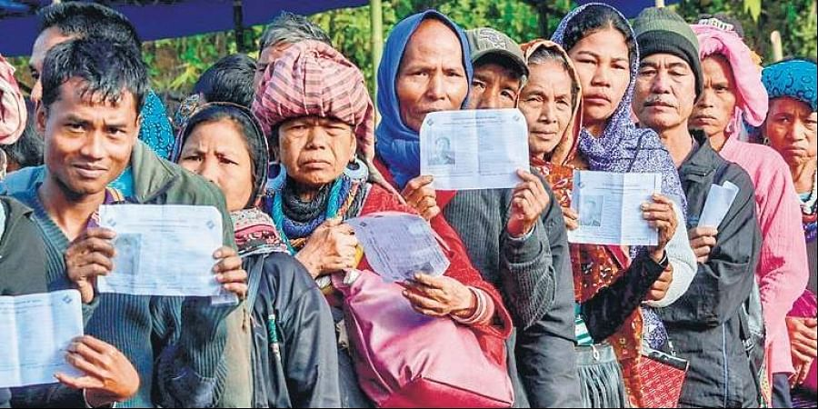 More than 40,000 Brus had fled to Tripura from Mizoram in 1997 in the wake of their clashes with the Mizos