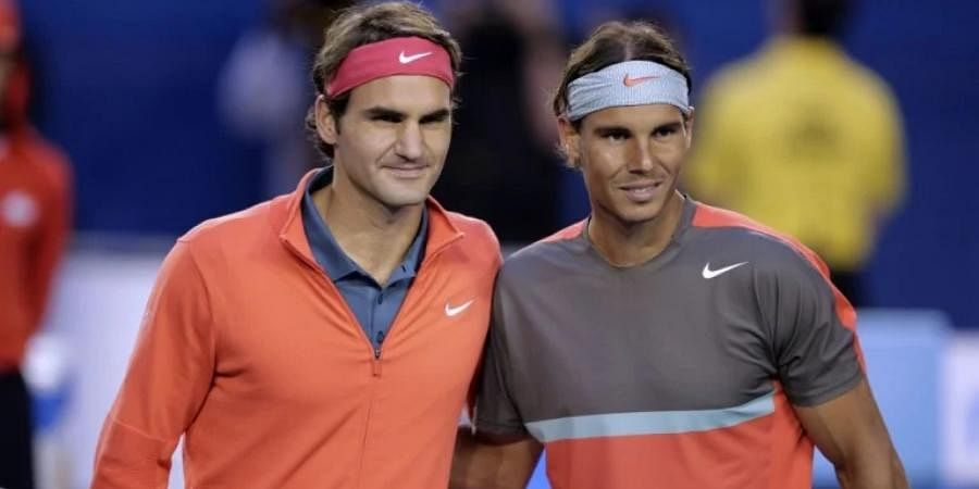 Tennis all-time greats Roger Federer and Rafael Nadal