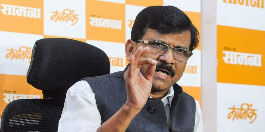 Senior Shiv Sena leader Sanjay Raut addresses a press conference after the party's meeting in Mumbai Thursday Nov. 7 2019. | (Photo | PTI)