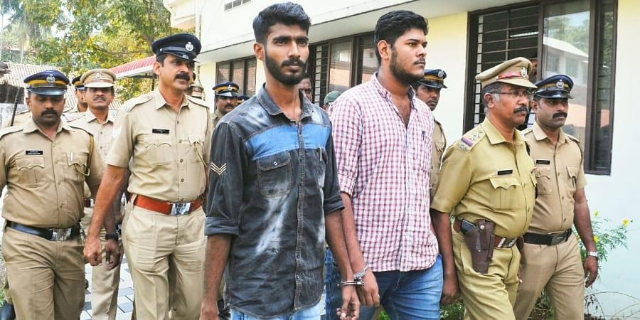 CPM activists Alan Shuhaib and Thaha Faizal beeing produced at a NIA court in Kochi on Thursday