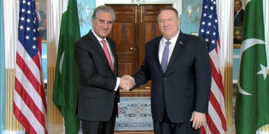 Pakistan Foreign Minister Shah Mahmood Qureshi meets US Secretary of State Mike Pompeo