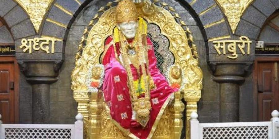 Sai Baba's idol in Shirdi temple